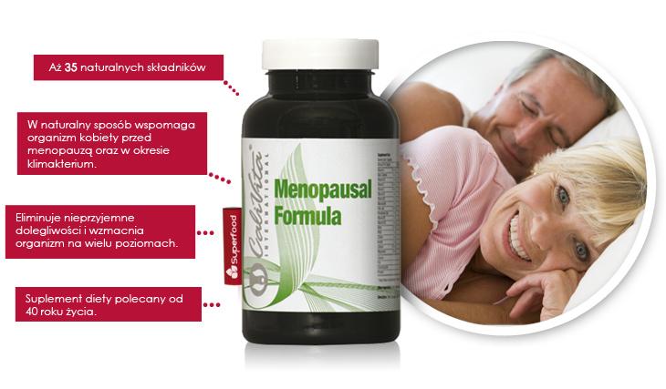 Menopauza i jej objawy likwiduje Menopausal Formula