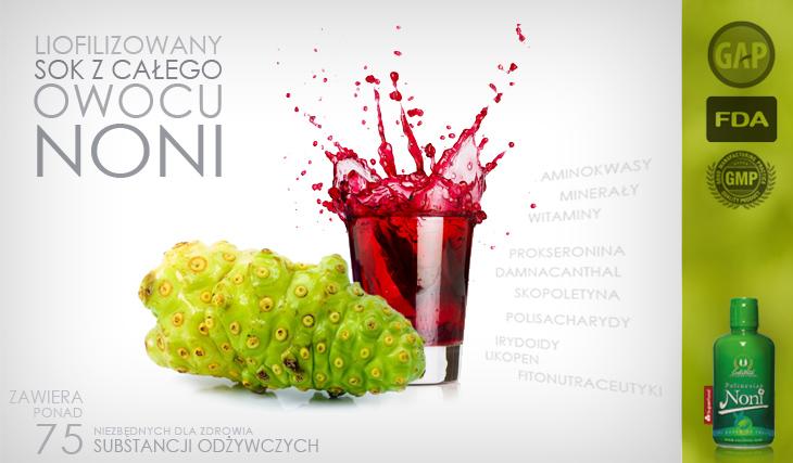 Polinesian noni to liofilizowany sok z całego owocu