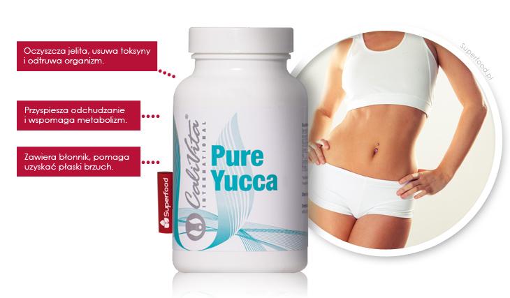 Suplement Pure Yucca na oczyszczanie jelit